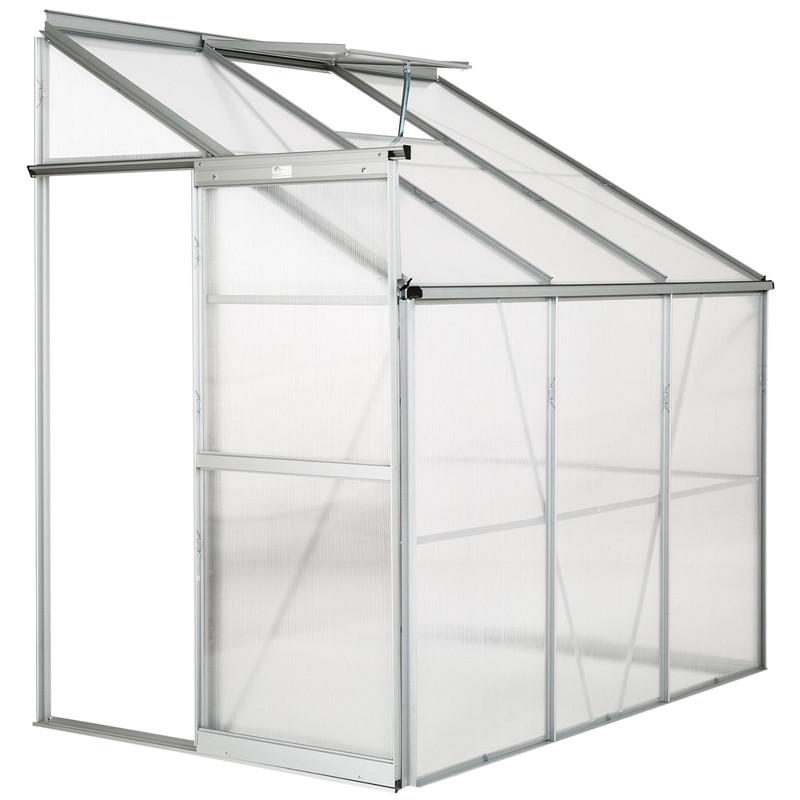 Polycarbonate Cold Frame Foundation Aluminium Vent Lean to ...