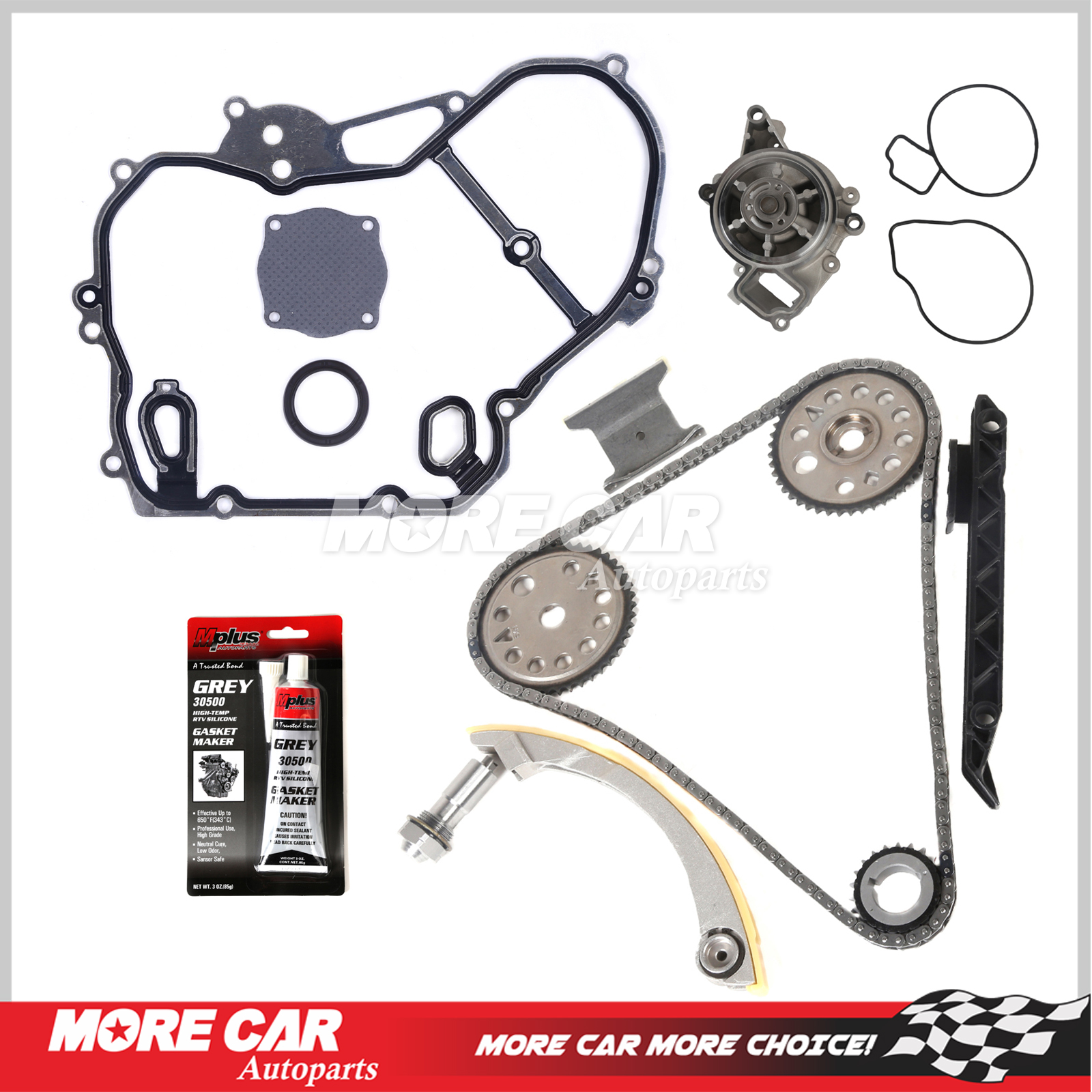 Ref 9 4201s 00 08 Chevy Saturn 20 22 Dohc Ecotec Timing Chain Water Pump Kit