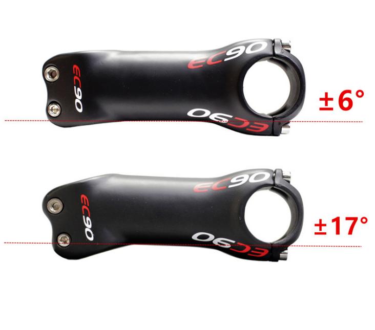 TOSEEK Carbon 3K Stem 6//17° Mountain MTB Road Bike handlebar Stems 31.8*70-130mm