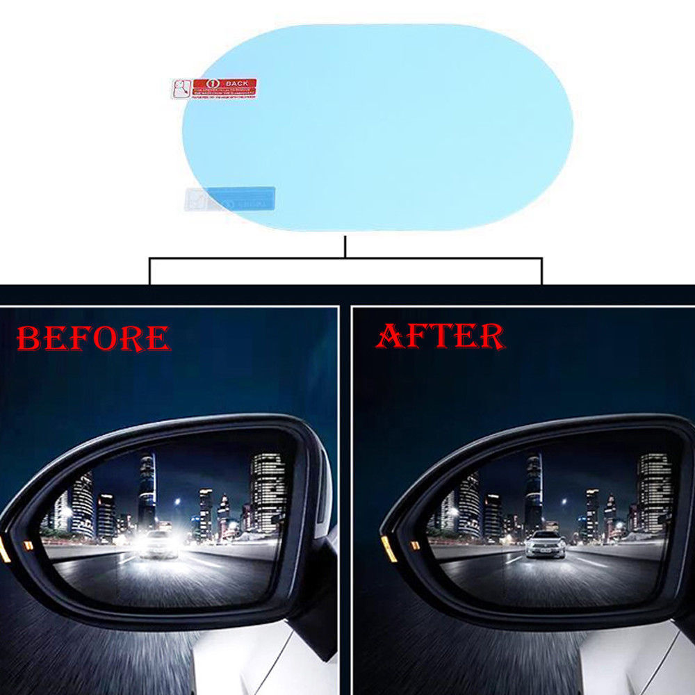 2 X Rainproof,Anti Fog,Anti Water Mist Clear Screen Rearview Mirror For Cars Van