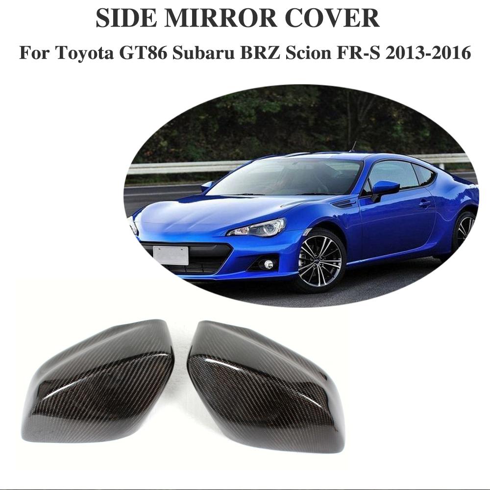 Rearview Mirror Cover Carbon Fiber Fit for Toyota GT86 Subaru BRZ Scion FR-S
