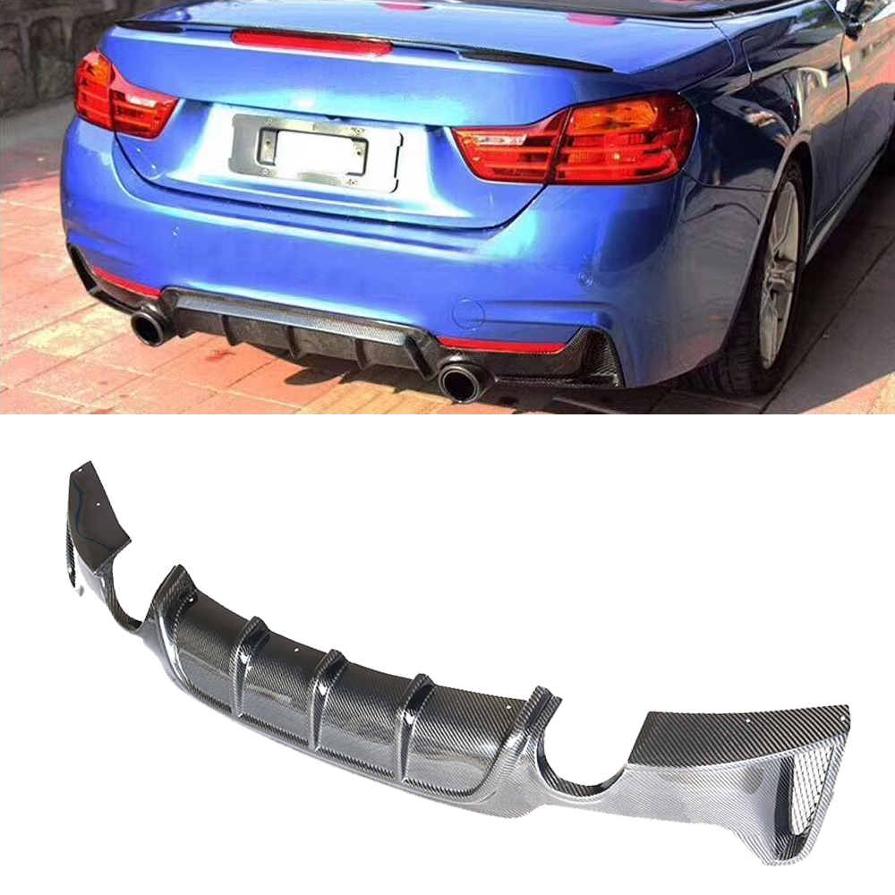 Carbon Fiber Rear Bumper Diffuser For BMW 4 Series F32 F33 F36 M Sport 14-18
