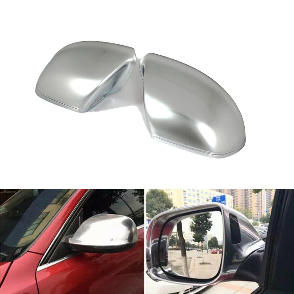 Replacement Rearview Mirror Cover Caps Fit for Audi Q5 Q7 2009-2015 Carbon Fiber