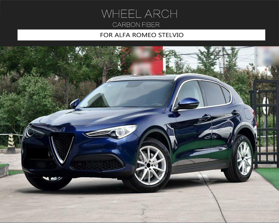 For Alfa Romeo Stelvio Carbon Front Wheel Arch Side Fender ...