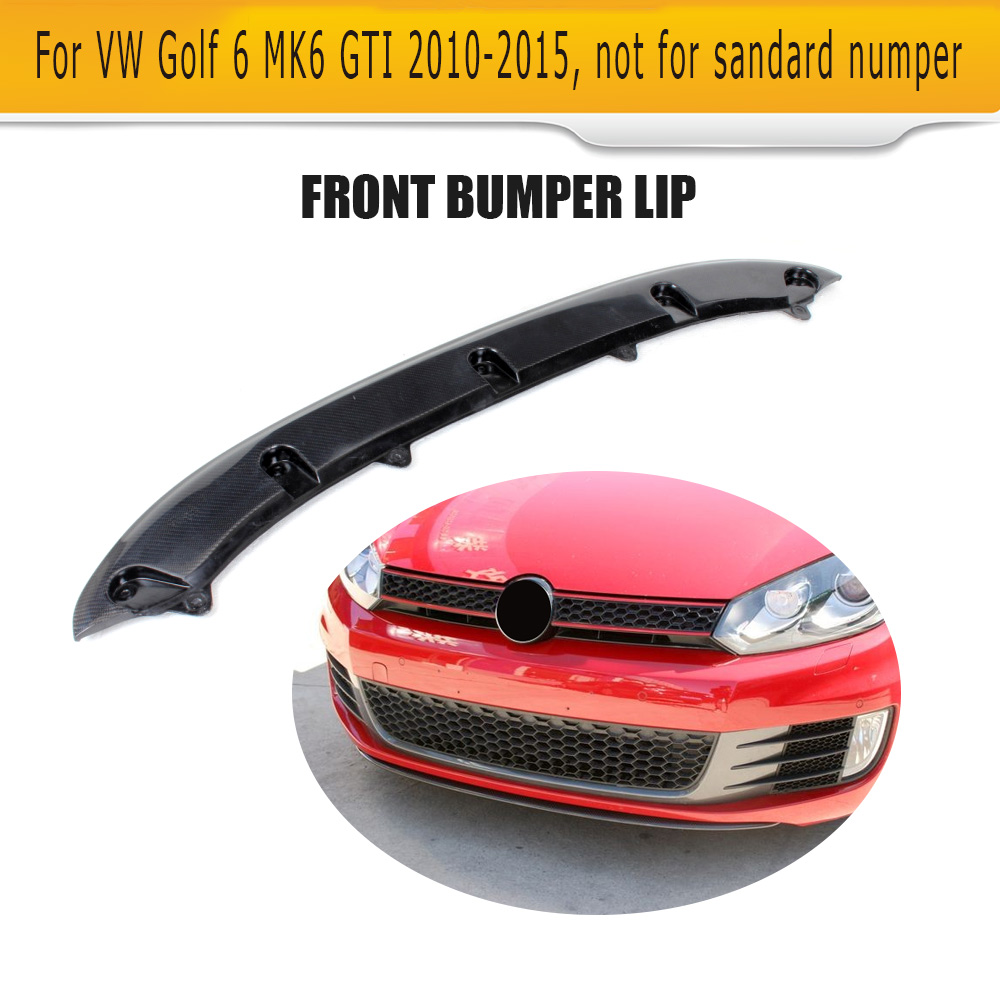 carbon fiber front lip spoiler fit for volkswagen vw golf. Black Bedroom Furniture Sets. Home Design Ideas