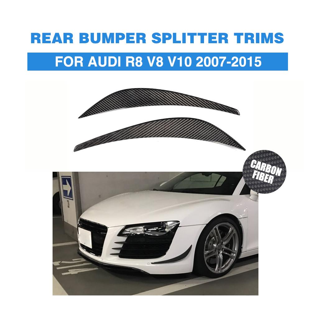 For Audi R8 V8 V10 07-15 Front Bumper Splitter Canard Fins