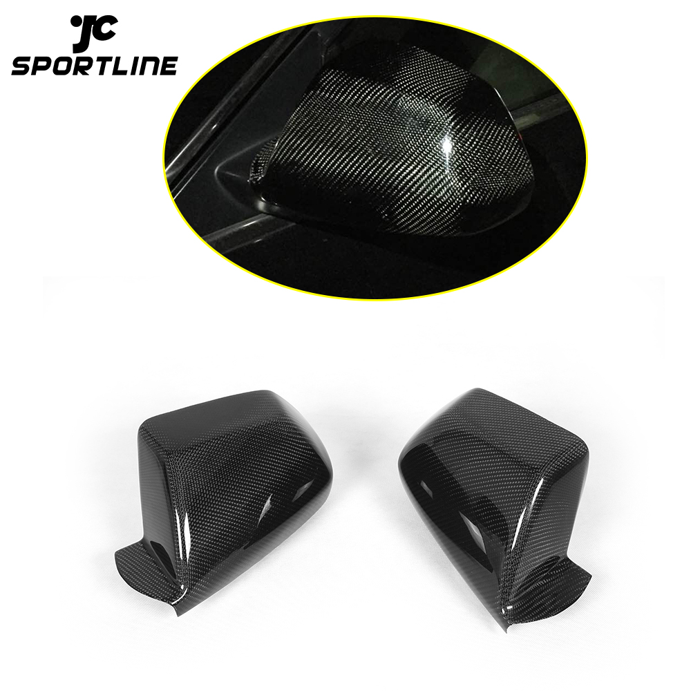 Rearview Side Mirror Covers Caps Carbon Fiber for Cadillac CTS Non-V 2009-2013