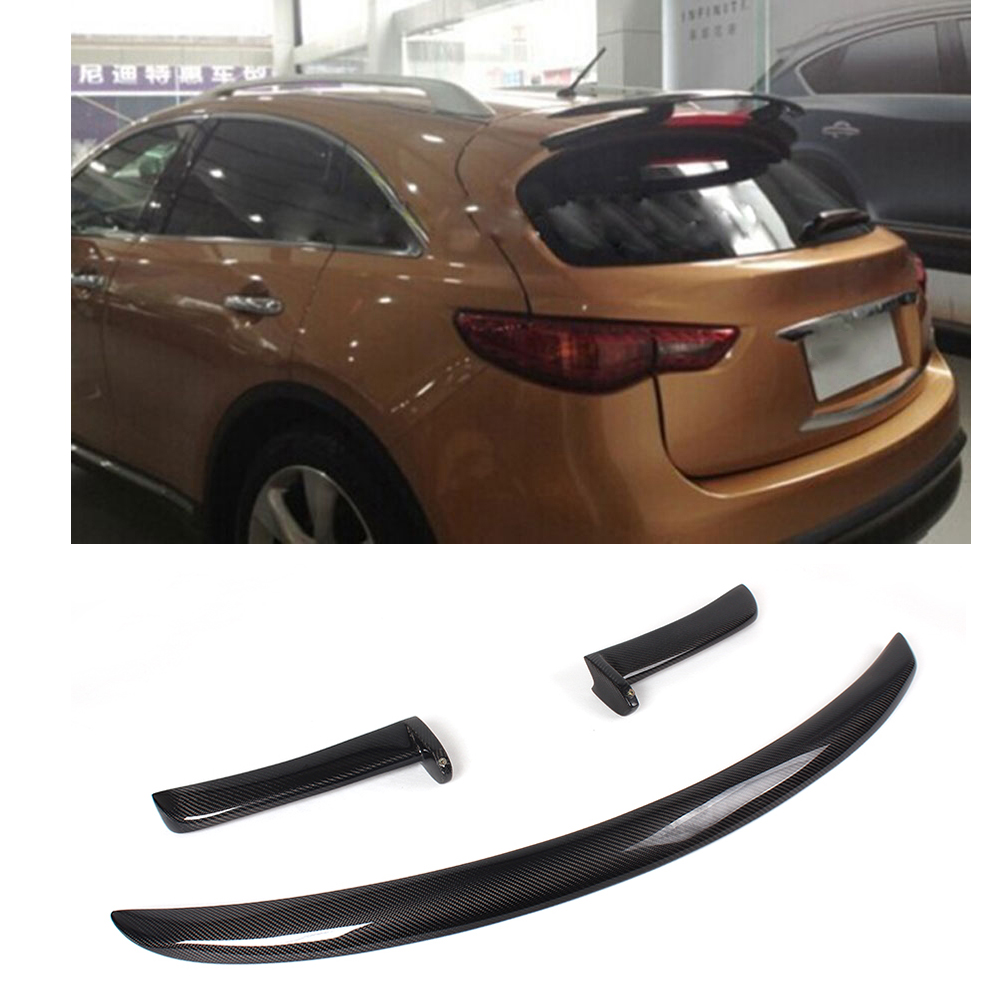 Carbon Fiber Rear Roof Spoiler Wing Lip Fit for Infiniti FX FX35 FX50 09-12