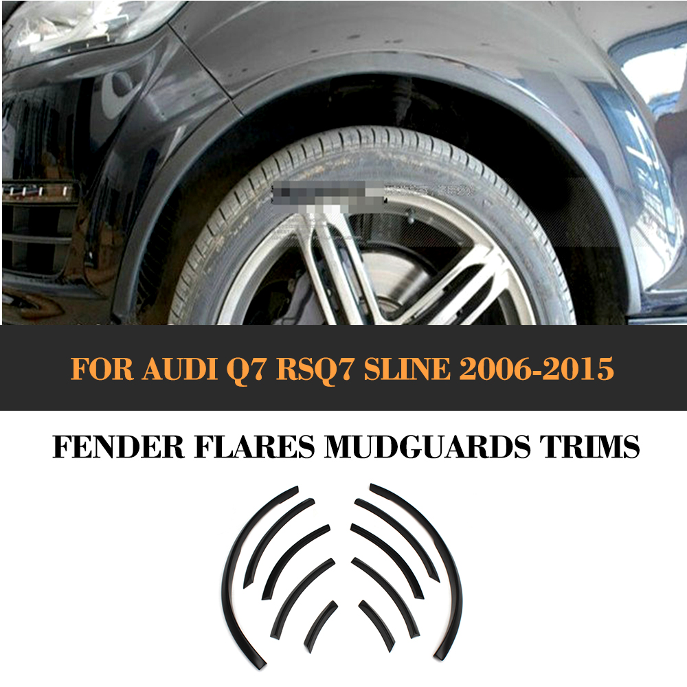 For Audi Q7 RSQ7 Sline Car Wheel Well Fender Flares Arch Lips Cover Trim Refit