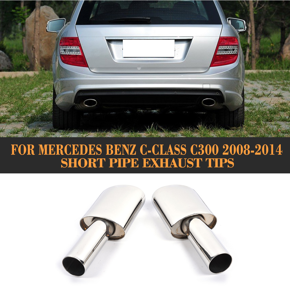 For 2008-2014 Mercedes-Benz C300//C350//C63 AMG Stainless Exhaust Muffler Tip