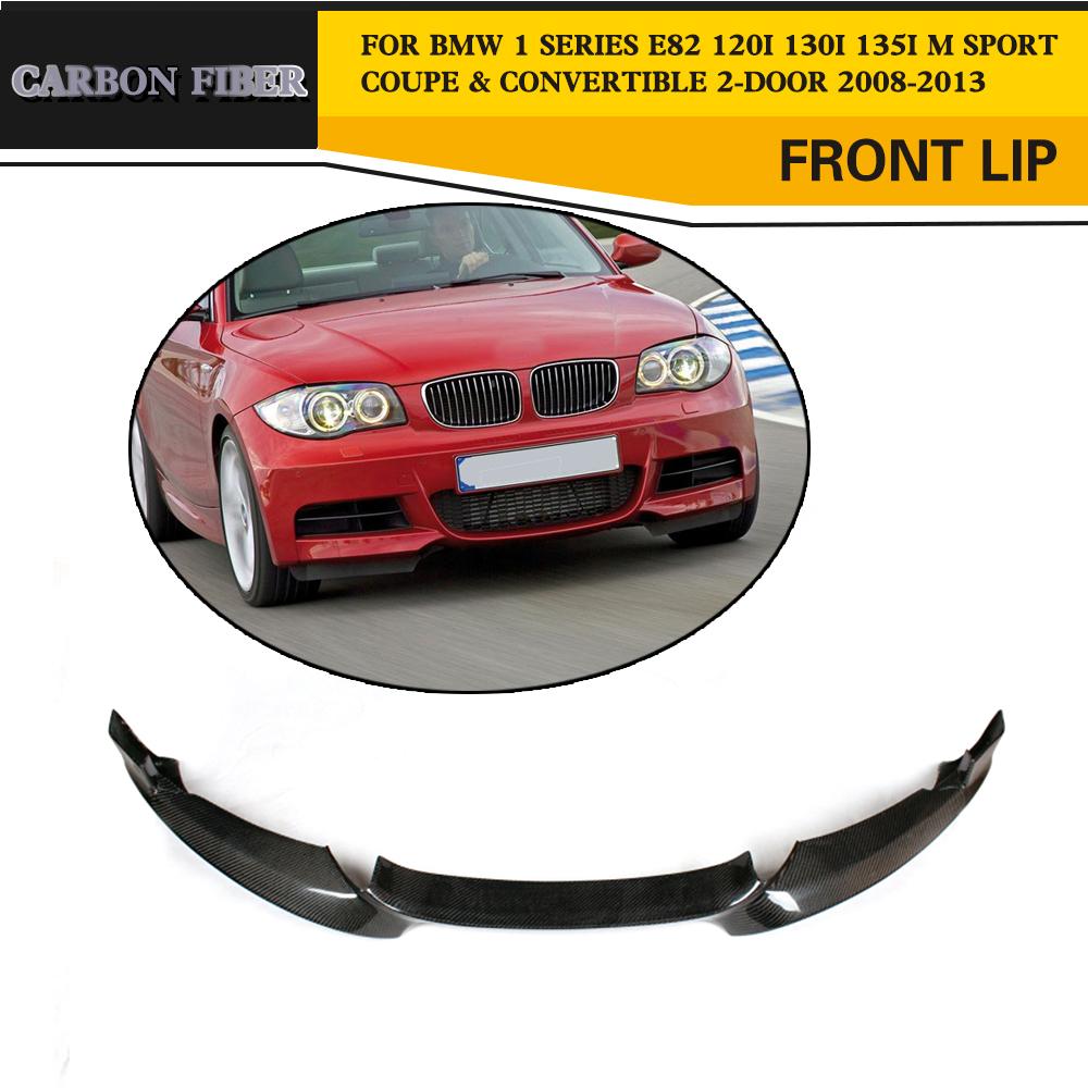 Carbon Fiber Front Bumper Splitters Refit For BMW E82 135i M Sport Bumper 08-13