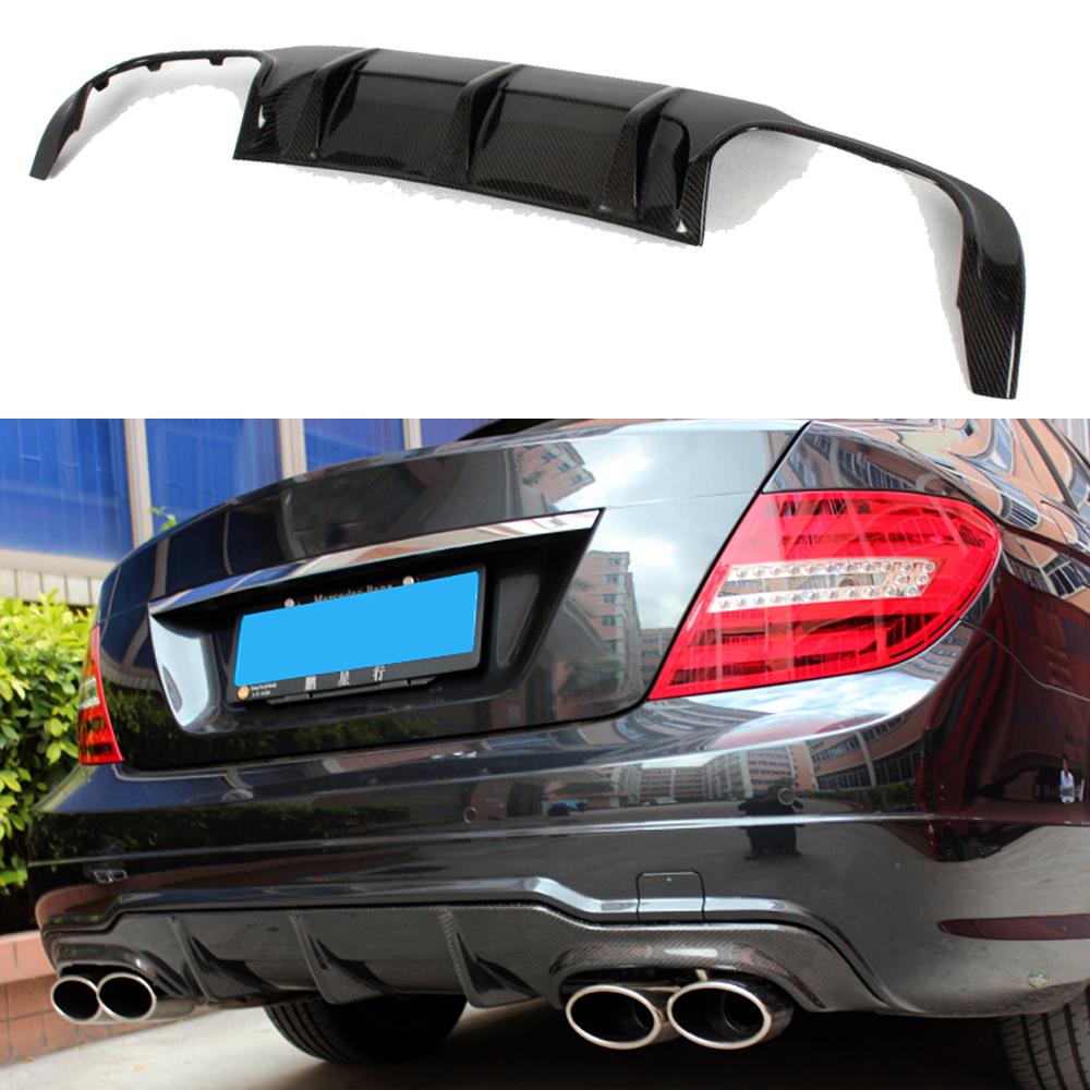 Carbon Fiber Rear Bumper Cover for 08-12 Mercedes W204 Sedan C63 AMG Diffuser