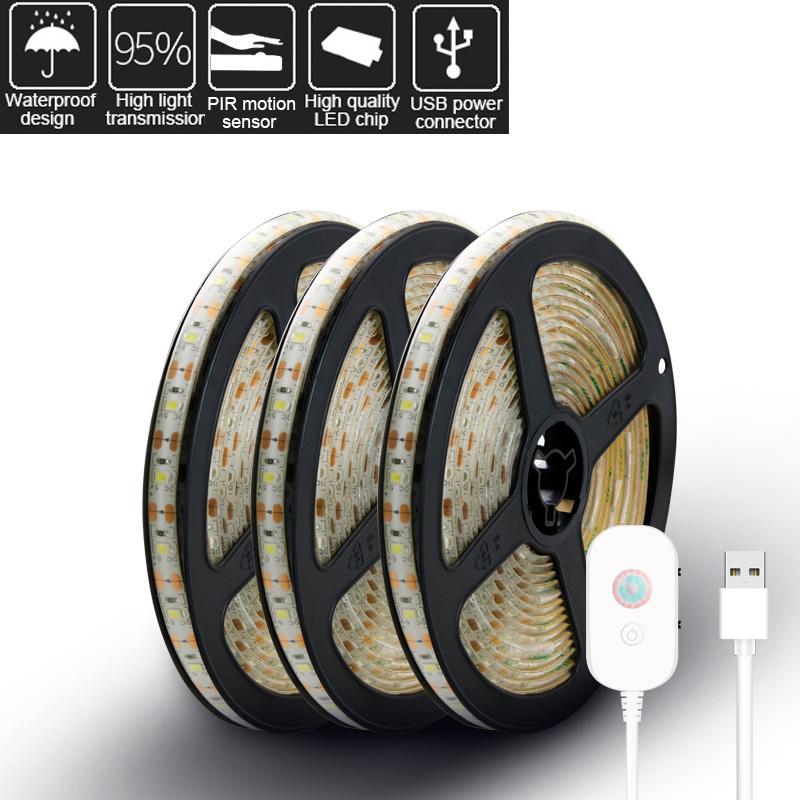PIR Motion Sensor LED Strip Light USB 2835 5V Waterproof Camping Tent Light