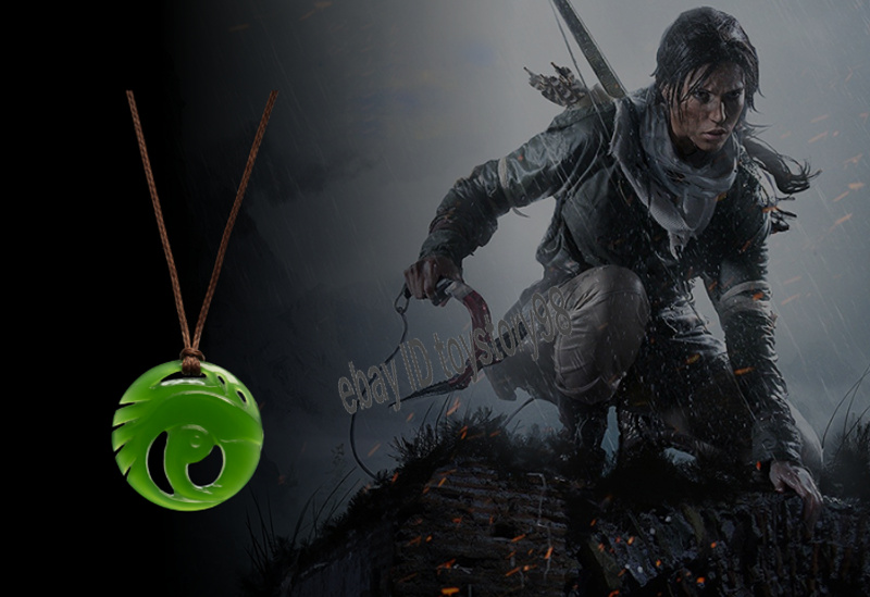 Details About Shadow Of The Tomb Raider Lara Croft Pendant Necklace Limited Cosplay Jewelry