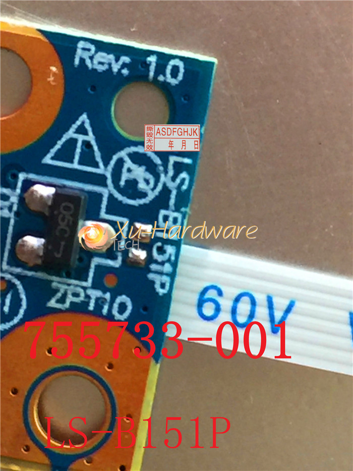 HP Pavilion X360 11-N010DX 11-N012DX 11-N038CA 11-N055NR Power Button Board cdja