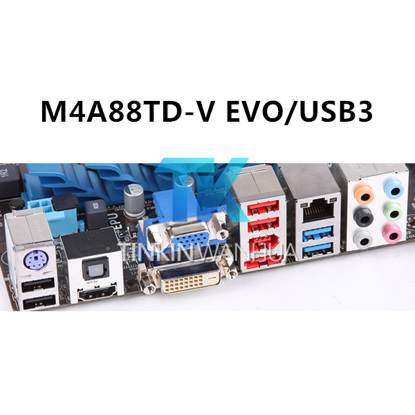 M4A88TD-M EVO//USB3 Motherboard Backplate IO I//O Shield For ASUS M4A89GTD PRO