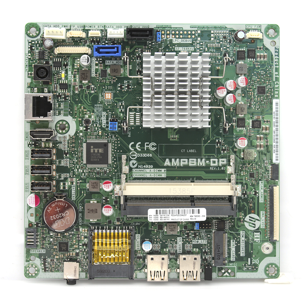 "AMPBM-OP 793292-004 Hewlett Packard Motherboard f// 21.5/"" AiO PC w// AMD A6-6310"