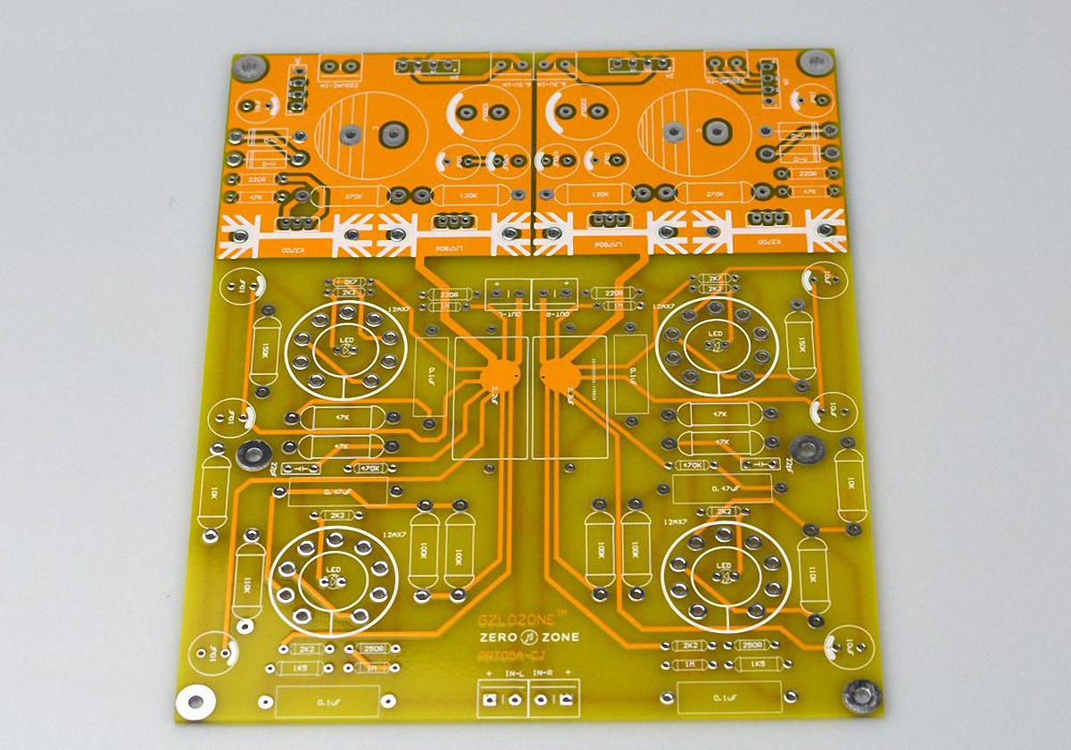 Prt05a 12ax7 Stereo Tube Preamplifier Pcb Base On Conrad Johnson Cl Preamp Circuit