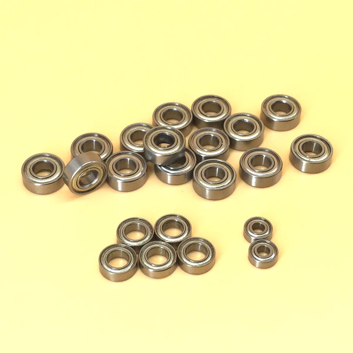 15Pcs Metal Sealed Ball Bearing Set For TAMIYA TB-02