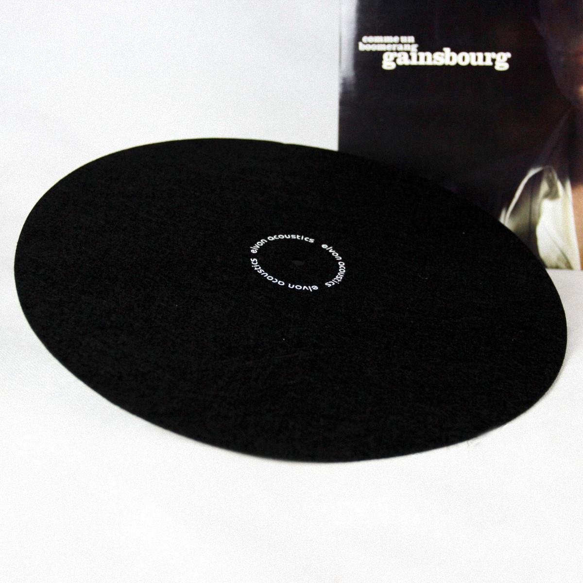 elvon 12/'/' LP Vinyl turntable record wool pad Phonograp antistatic flat soft mat