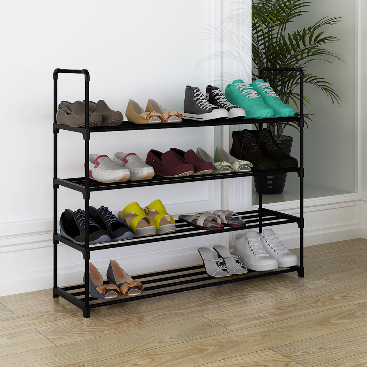 Astonishing Details About 4 Tier Shoe Rack For 20 Pair Wall Bench Shelf Closet Organizer Storage Box Stand Pabps2019 Chair Design Images Pabps2019Com