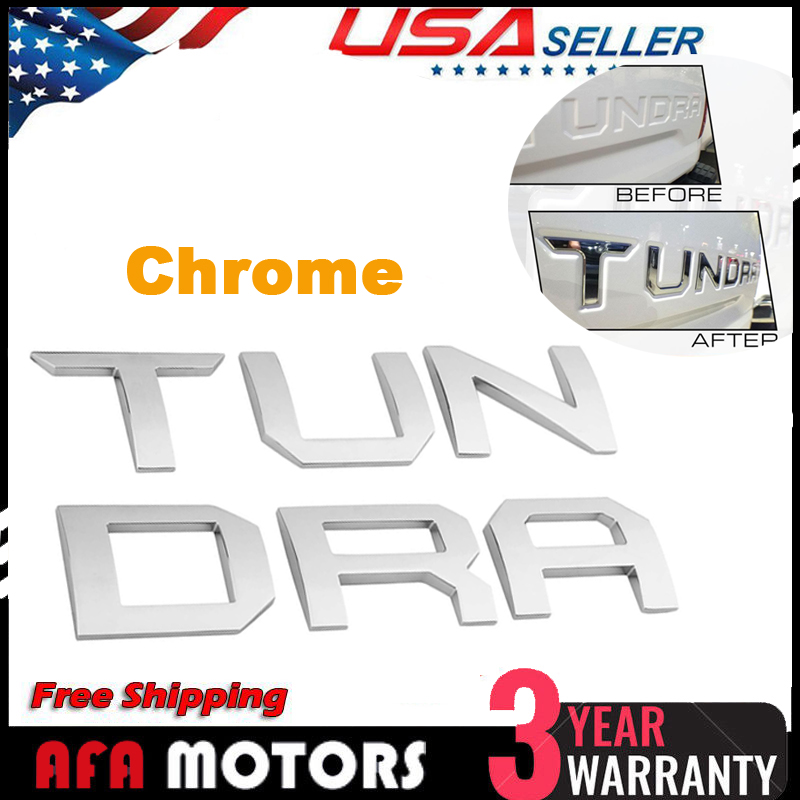 FOR 2014-17 Toyota Tundra Tailgate Letter Insert Chrome Trim Molding accessories