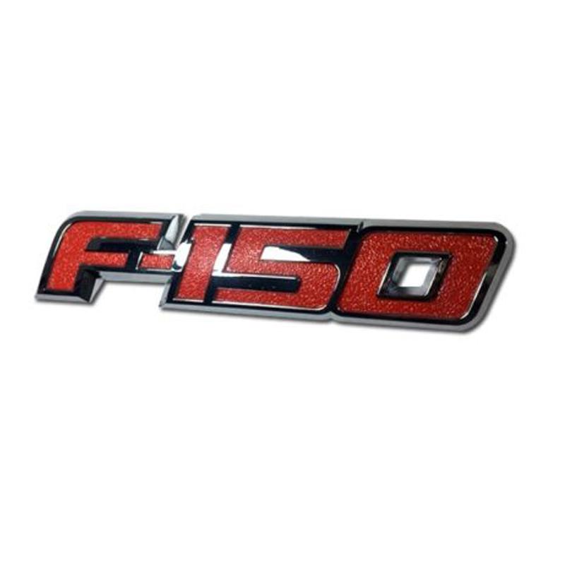 1X Ford 2009-2014 F-150 Raptor FX4 Red Fender Tailgate Rear Emblem Nameplate OEM