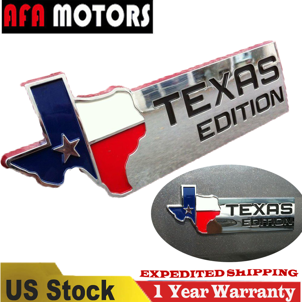 1pc Black TEXAS EDITION Emblem Badge Sticker Decal Fit For 150 250 350 Tailgate