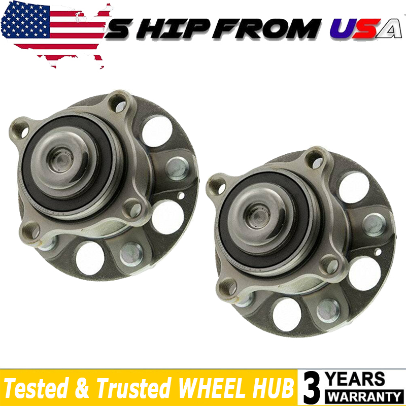 Rear Wheel Bearing Hub Assembly Pair Set Of 2 For Acura