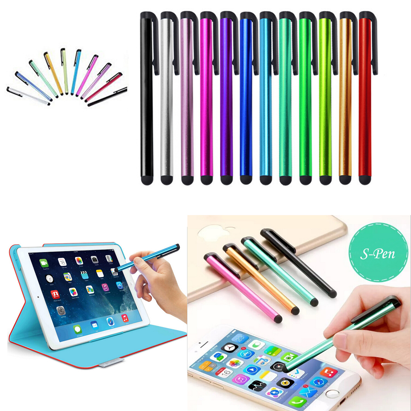 10 x Universal SCREEN STYLUS PENS for ALL Mobile Phone Tablet For Iphone