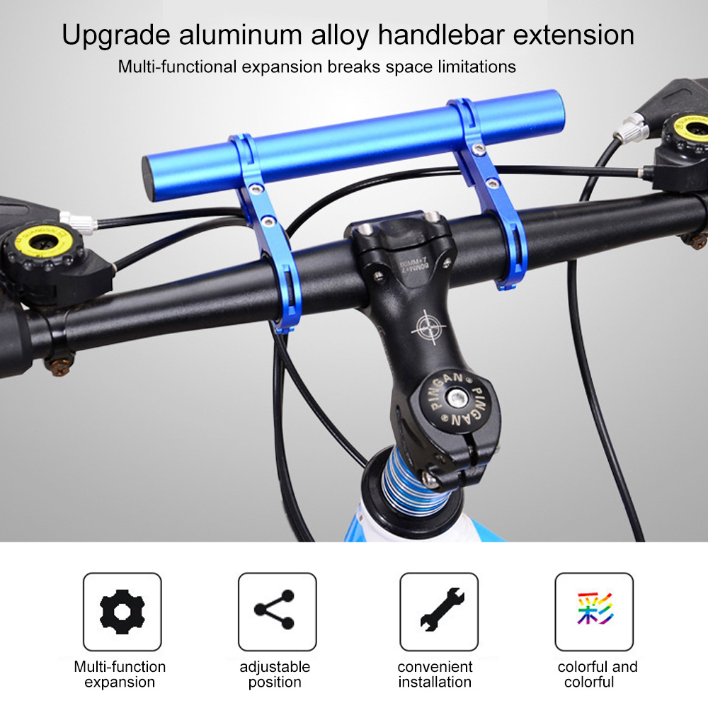 Cycling Computer Extender Bracket Bicycle Flashlight Holder Bar Multi-function