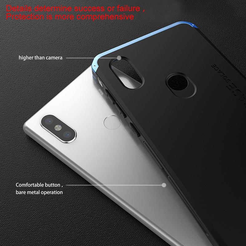 For Xiaomi Redmi Note 5 MIX 2S Full Cover Aluminum Metal Bumper Hybrid Back Case