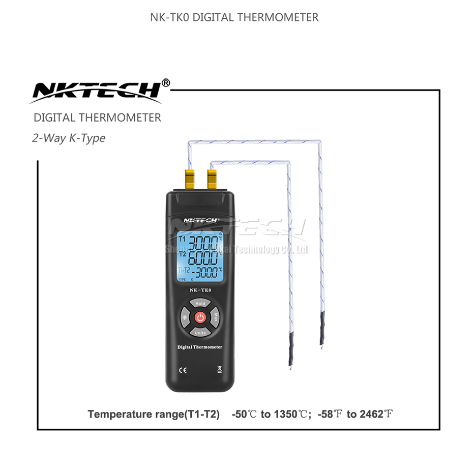 Portable Digital Thermometer mit K-Typ Thermoelement-Sensor LCD