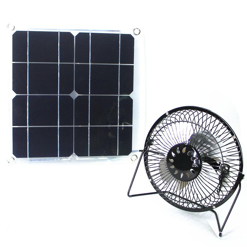 Solar Fan 10 W RV Touring Car Camping Chicken House Ventilator