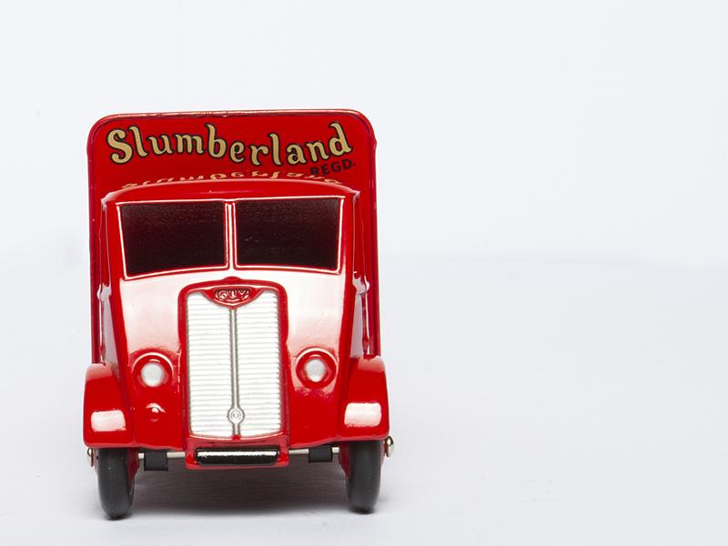 DINKY TOYS SUPERTOYS 514 GUY VAN Slumberland SPRING INTERIOR MATTRESSES 1//43 New
