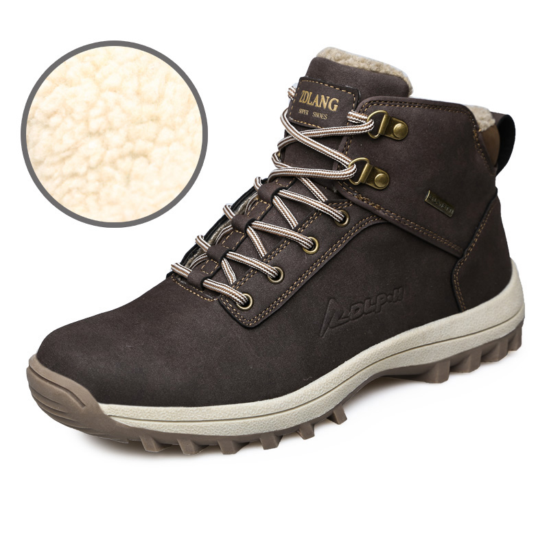 Men/'s Waterproof Winter Warm Snow Boots Outdoor Hiking Sports Shoes Trainers UK