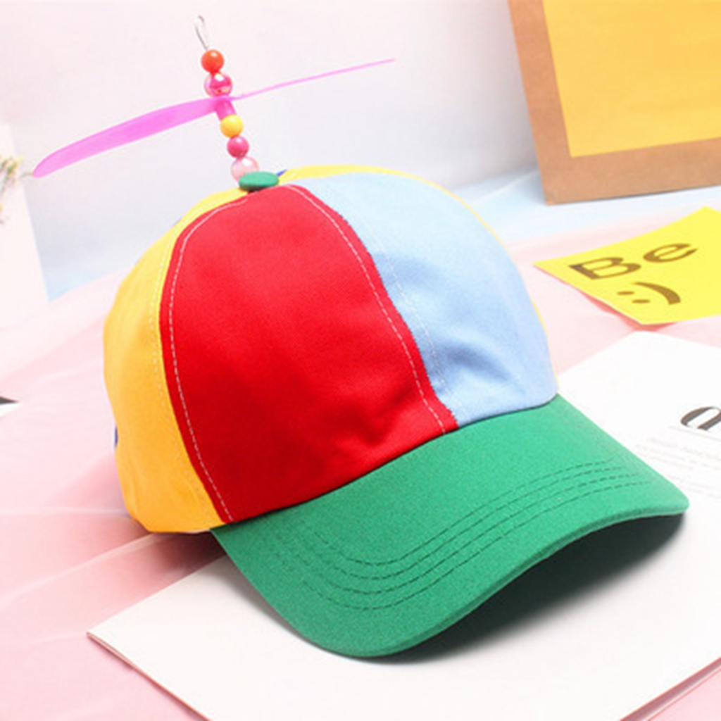 ADULT PROPELLER BEANIE HAT CLOWN COSTUME BASEBALL COPTER HELICOPTER BALL CAP c4a1e2dadc2b