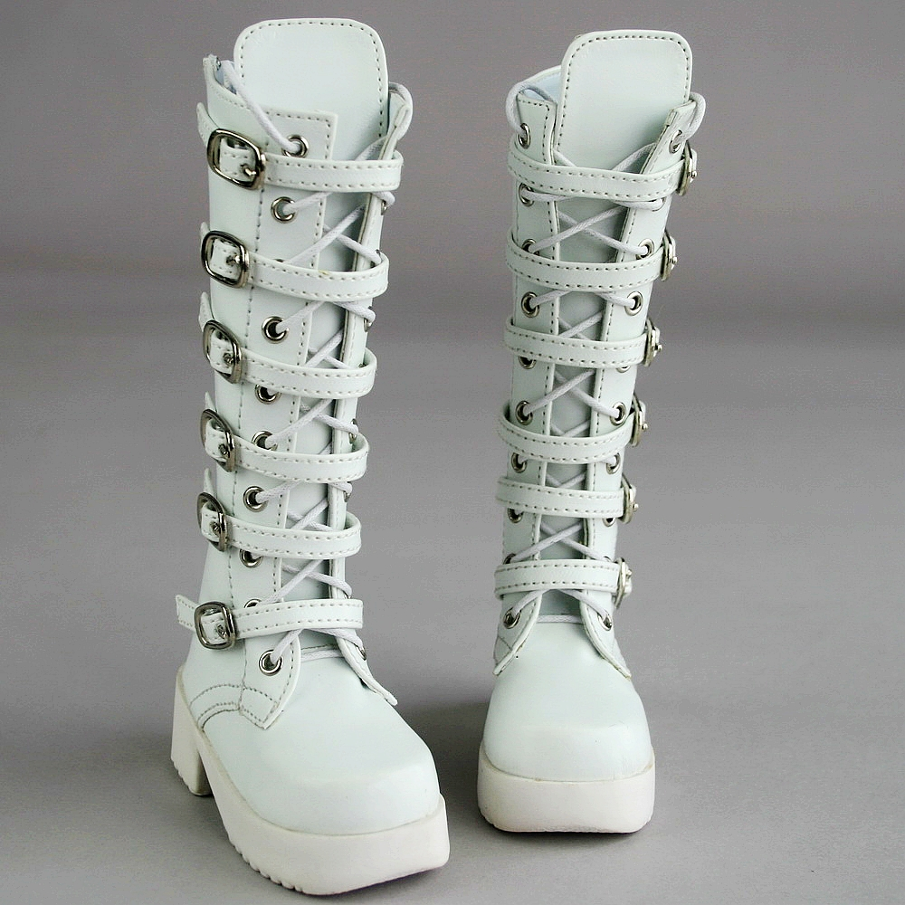 PF Shoes 16# White 1//4 MSD DZ DOD BJD Dollfie Synthetic Leather Boots