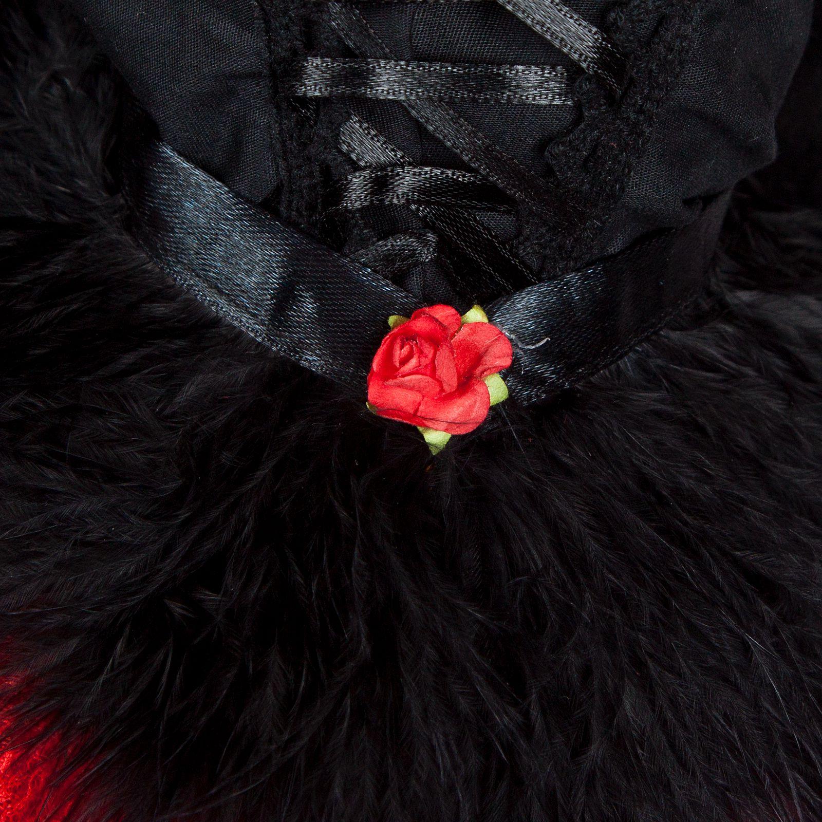 PF 705# Red And Black Dresses 1//4 Msd Dod Dz Aod Bjd Dollfie