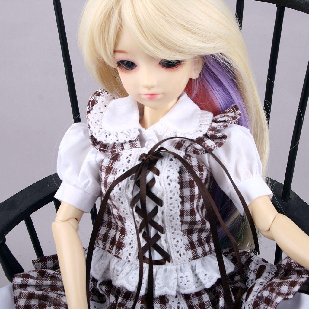 1 Set Of White Eyelashes SD DZ DOD MSD LUTS BJD Doll Dollfie Handmade PF