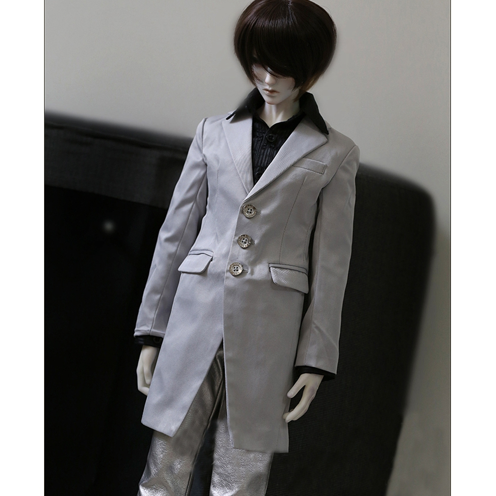 Boy White Quilted Jacket//coat//cloth SD17 AOD DOD DZ BJD Dollfie PF