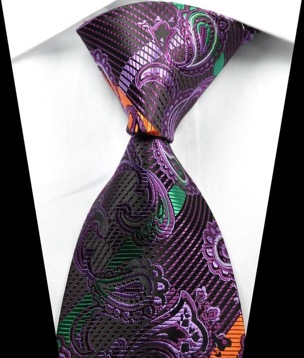 New Classic Paisley Black Green Gold Red JACQUARD WOVEN Silk Men/'s Tie Necktie