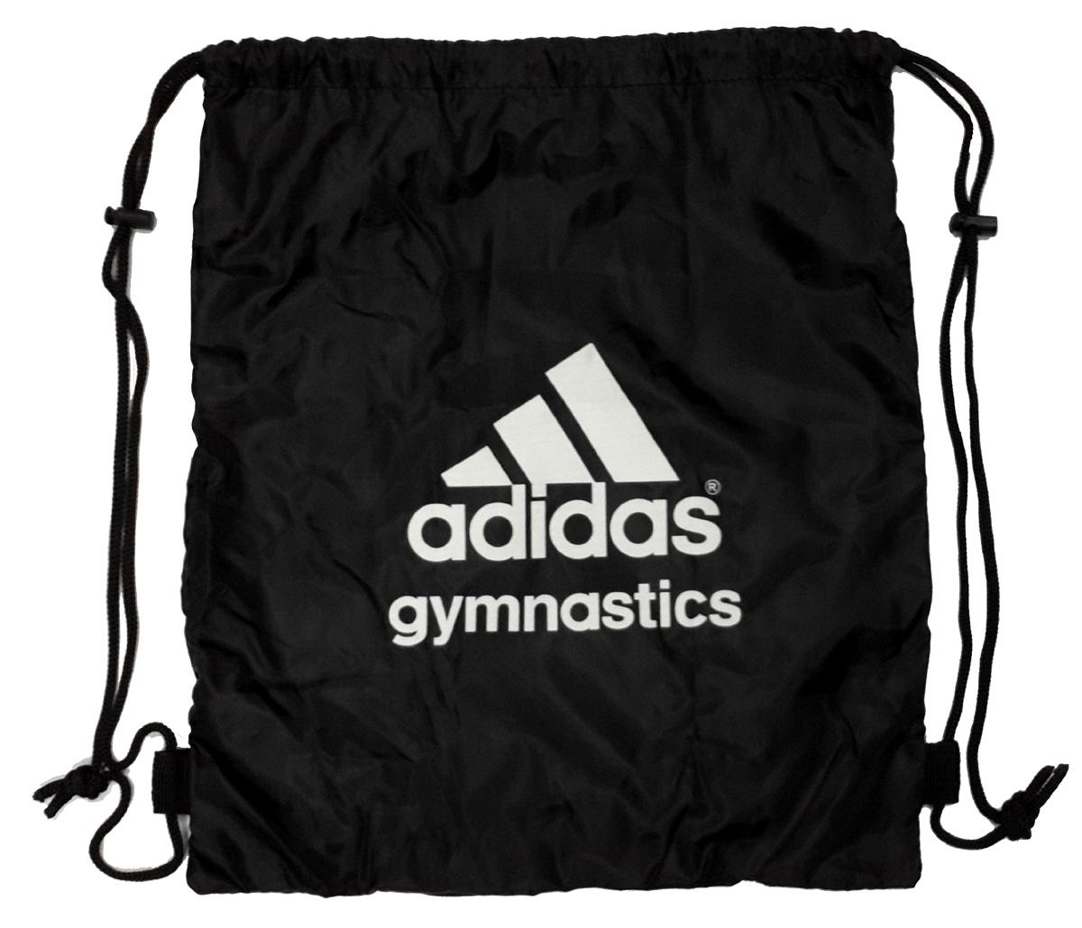 Adidas Gymnastics Gear Bag Gym Sports Tote Drawstring Pack Nylon Sling  Black + White 811b867f2a771