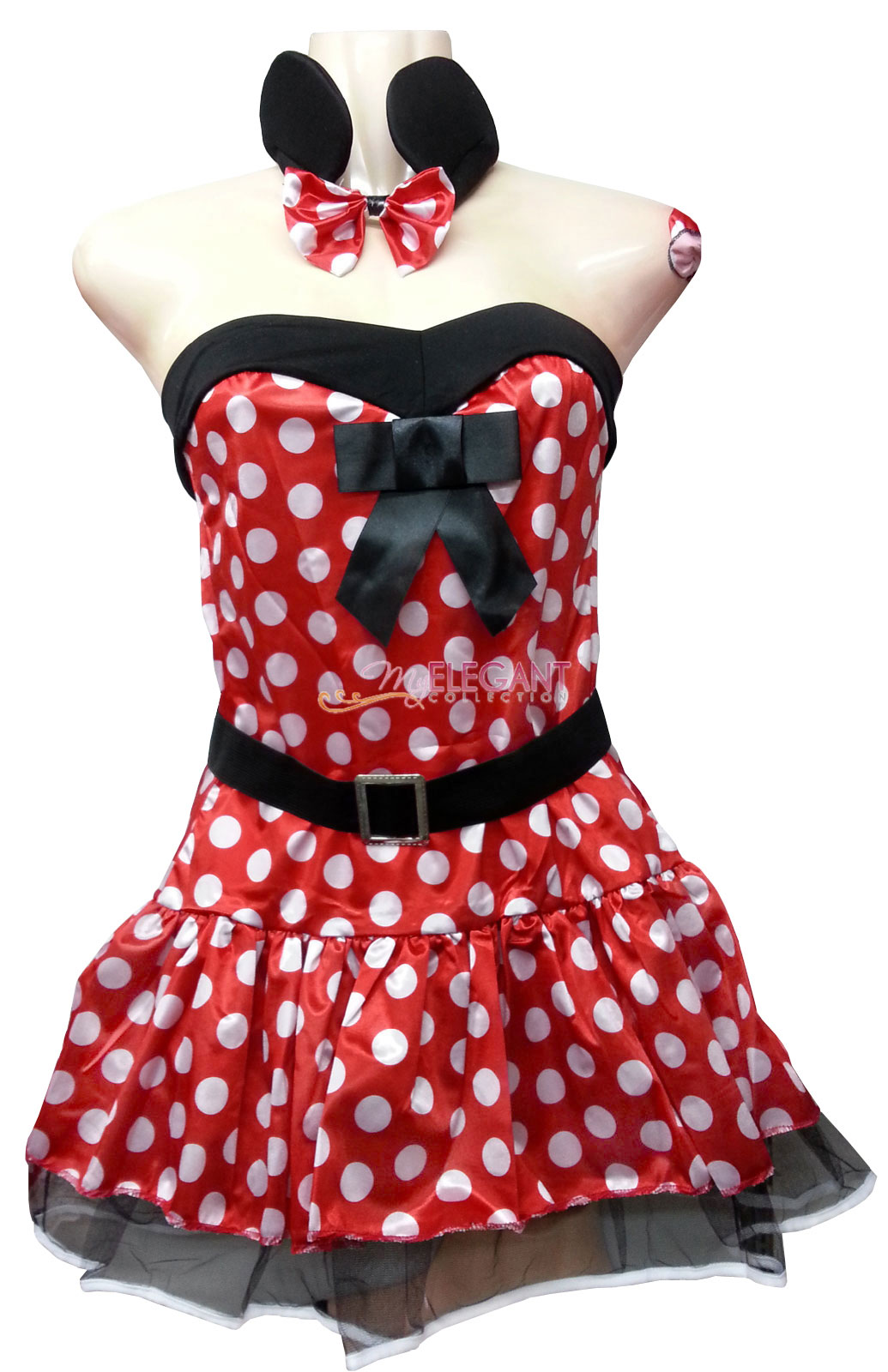 Lady Adult Women Minnie Mouse Costume Halloween Fashion Outfit Fancy ...