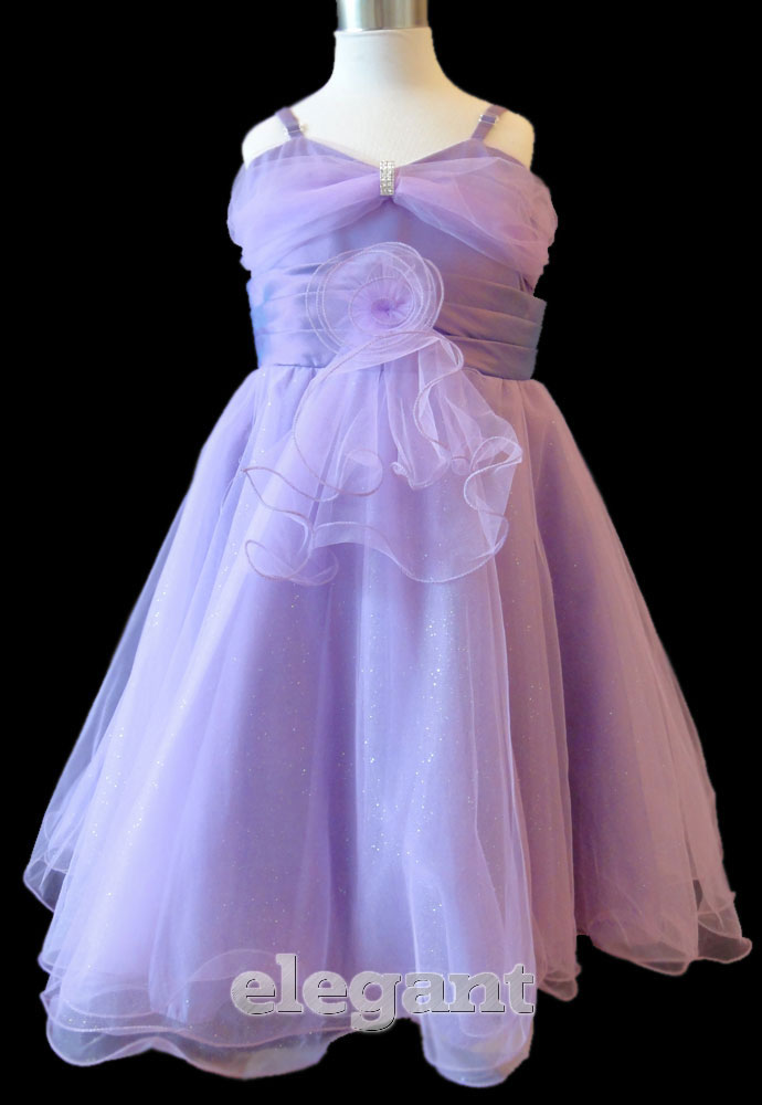 Details about Purple V Wedding Flower Girls Dress Pageant Gown Size 12 Age  11,13 Years
