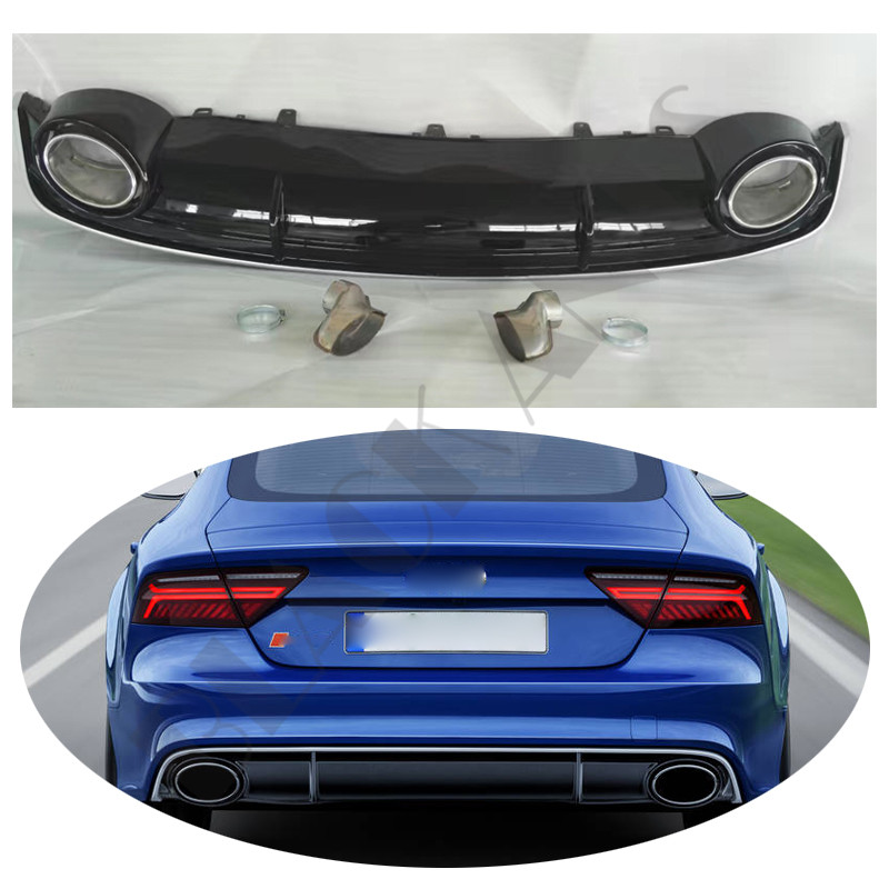 1 Set For Audi A7 2012-2015 Tail Rear Bumper Diffuser