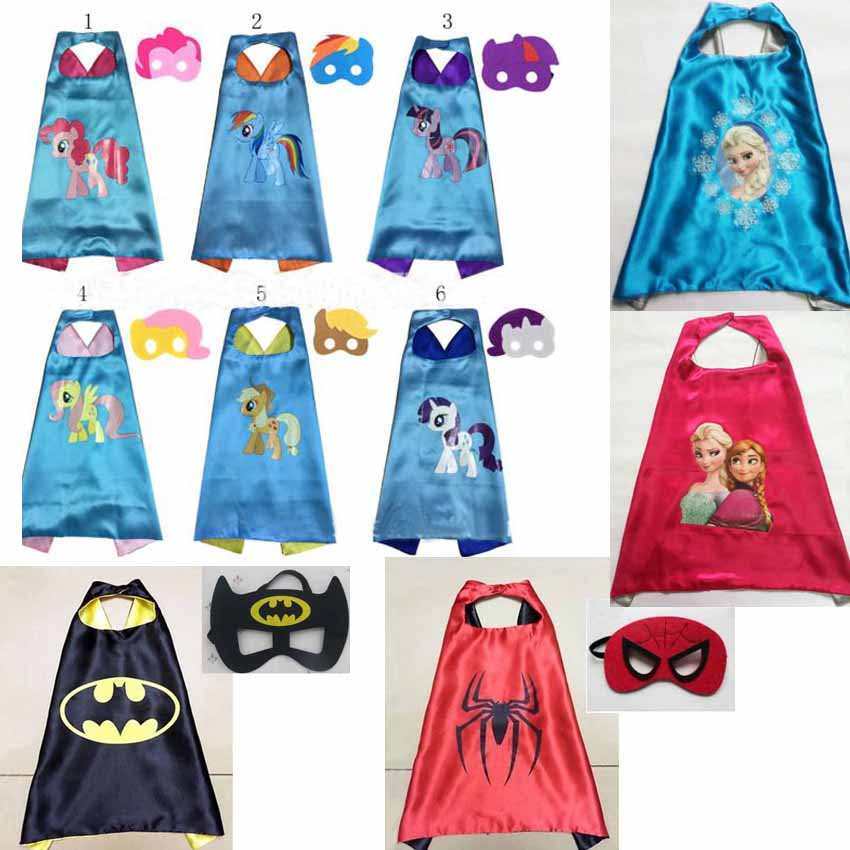 My Little Pony Cosplay Party Cape+Mask Super Hero Cape Kid Dress Up ...