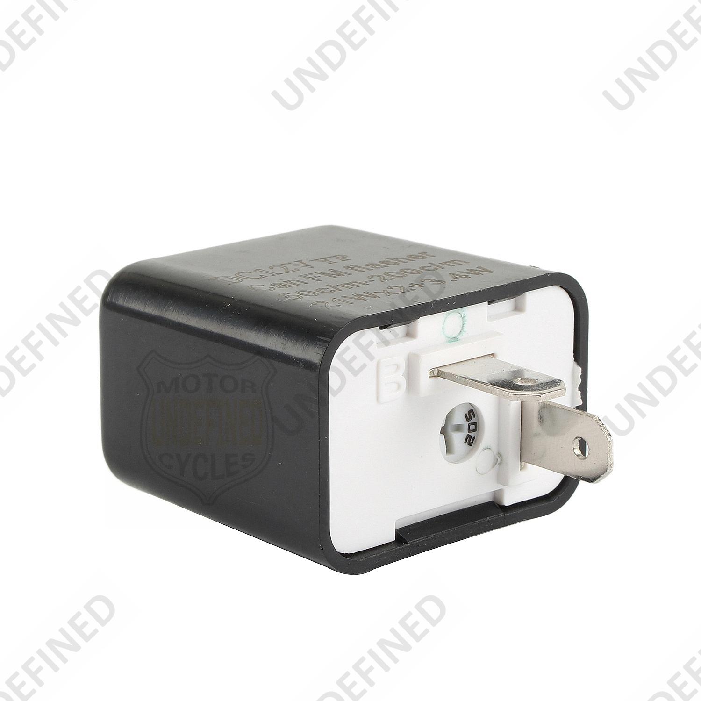 EVGATSAUTO 2-Pin Motorcycle Motorbike Flasher Beeper Relay Turn Signal Indicator Blinker 12V Flasher Relay Indicator