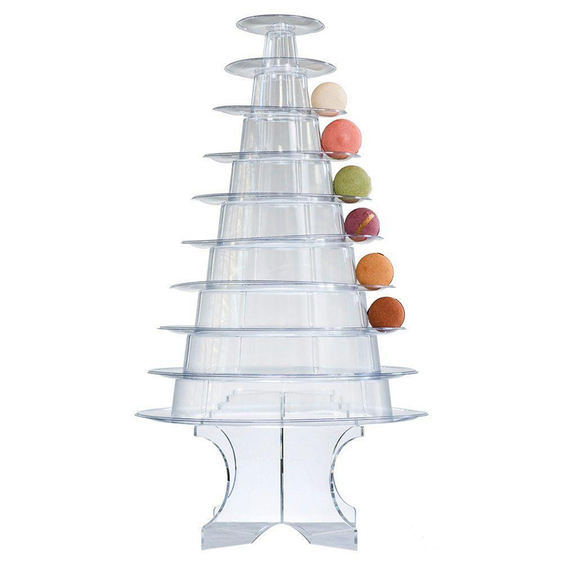 40 Layer Clear Acrylic Tower Macaron Display Stand Wedding Party Impressive 10 Spiral Ornament Display Stand