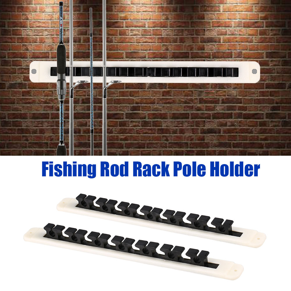 Fishing Rod Rack Pole Holder Vertical Horizontal Fishing